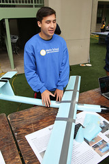 PZ20160513-014.jpg (Menlo Photo Bank) Tags: ca boy people usa sign airplane us spring student technology engineering quad science tyler event individual atherton 2016 engaging upperschool makerfaire menloschool photobypetezivkov appliedscienceresearch