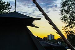 Kohte im Sonnenuntergang (sebastianflink) Tags: sunset sonnenuntergang cologne kln scouts rhein jamb pfingsten zeltlager pfadfinder dpsg dvkln
