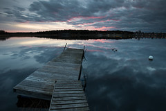 Old jetty - Orrholmen (- David Olsson -) Tags: old sunset seascape water clouds landscape pier nikon sundown cloudy sweden outdoor jetty karlstad worn fx vr ramshackle buoy d800 brygga värmland 1635 1635mm mariebergsviken orrholmen leefilters floatingpier davidolsson 06hard 1635vr
