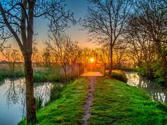 Marais poitevin 4 (daniel_58) Tags: sea reflection nature sunrise landscape olympus reflet hdr omd em10