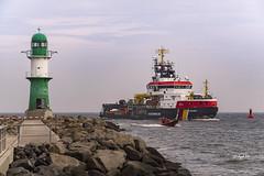 Kstenwache (hph46) Tags: germany deutschland boot warnemnde sony ngc ostsee schiff rostock leuchtturm kstenwache mecklenburgvorpommern alpha7r