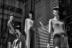 Arrogance (CVerwaal) Tags: nyc blackandwhite usa ny newyork reflections mannequins olympusem5 mzuiko25mmf18
