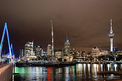 20160429-07-Auckland Viaduct Harbour at night (Roger T Wong) Tags: travel bridge newzealand people blackandwhite bw panorama monochrome bike night lights mono bars neon harbour pano restaurants viaduct bicycles auckland nz northisland yachts polo foodtruck 2016 ptgui rogertwong sonya7ii sel28f20 sonyilce7m2 sonyalpha7ii sonyfe28mmf2