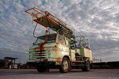 Fire Truck (Jaf-Photo) Tags: sunset sky cloud clouds sony parking flash sigma firetruck fireengine strobe a700 dxooptics 1224mmf4556