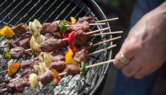 IMG_0967 (llamnudds) Tags: food brown hot bbq meat rack heat skewer skewers
