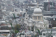 St Paul's Cathedral (Vladimir Yaitskiy) Tags: city uk bird london church skyline architecture cathedral unitedkingdom christopher aerial dome wren stpaulscathedral baroque birdseyeview citi drone agnificent
