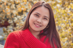(yvind Bjerkholt (Thanks for 29,6 million+ views)) Tags: she light red woman classic girl beautiful beauty smile norway lady female canon hair asian happy 50mm glamour pretty dof bokeh feminine gorgeous joy naturallight filipina classy elegance arendal