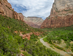 Zion Canyon View2 (bryanfisherphoto) Tags: park sun clouds river rocks view cliffs virgin national zion zionnp canyons