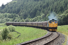 Class 26 038 'Tom Clift northbound through Newtondale [NYMR] (soberhill) Tags: diesel gala pickering grosmont nymr 2016 northyorkshiremoorsrailway 26038 class26 newtondale tomclift