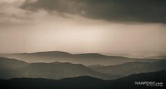 kopTop (Ivan Peki - www.ivanpekic.com) Tags: mountain hill morning sunset orange view panorama landscape