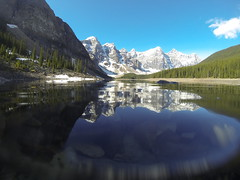 Moraine Lake with a GoPro (ryan.kole32) Tags: travel trees lake canada nature beauty clouds forest landscape rockies outdoors nationalpark pov hiking perspective bluesky alberta banff rockymountains moraine banffnationalpark canadianrockies banffalberta beautyinnature gopro morianelake