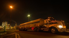 fuel truck (damdiv) Tags: night wideangle gas nighttime refinery gasflare