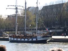 Three-masted ship (carolyngifford) Tags: paris boats riverseine