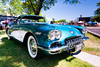 1958 Chevrolet Corvette (hz536n/George Thomas) Tags: summer copyright chevrolet canon michigan chevy canon5d nik corvette flint carshow 2016 ef1740mmf4lusm cs5 sloanmuseum sloanmuseumautofair