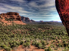 Foreground Background (KnightedAirs) Tags: arizona mountain rock digital canon photography photo sedona grand powershot epic hdr formations s100