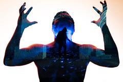 Trespasser.  176/366. (FadeToBlackLP) Tags: silhouette dark creative double creepy pscreation notsooc