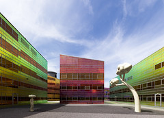 a colourful, well-lighted place [1] (yushimoto_02 [christian]) Tags: building netherlands architecture buildings ladefense almere unstudiooffice