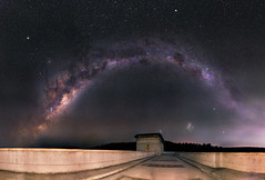 Milky Way over Canning Reservoir, Western Australia - 35mm Panorama (inefekt69) Tags: longexposure nightphotography sky panorama mars cloud ice water night rural 35mm way stars ancient nikon outdoor dam mosaic space small great large australia reservoir explore southern galaxy astrophotography microsoft planet astronomy dslr milky stitched cosmos westernaustralia core canning opposition cosmology milkyway southernhemisphere rift magellanic explored magellanicclouds d5100