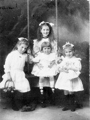 Margery, Jessie, Molly and Helen Eipper (maitland.city library) Tags: maitland newsouthwales state library ernest ernie cameron studio portraits girls dolls eipper margery jessie molly helen frank 1909 leila