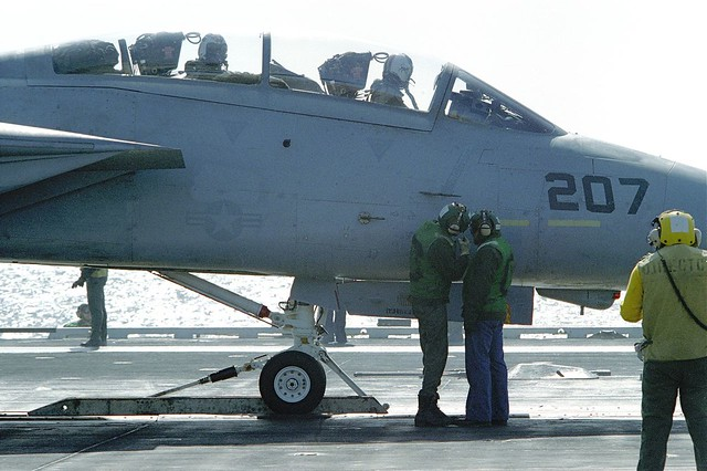 Grumman F-14 Tomcat aboard the USS ENTERPRISE - 1984