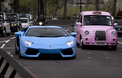 Pastels (tWm.) Tags: blue light baby london car nikon thomas super mein phoebe lp nikkor 700 lamborghini supercar f4 celeste avt v12 24120 d7000 aventador lp700 v12avt