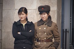 Pyongyang 100th Year Kim Il Sung Birthday Celebrations (Joseph A Ferris III) Tags: cold girl hat soldier army northkorea pyongyang juche kimilsungsquare