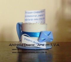 Convite Chá de fraldas (Andressa Duarte Artesanato em E.V.A) Tags: eva castelo carros convite madagascar bailarina baleiro festainfantil lembrancinha chádefraldas enfeitesdemesa chádefralda