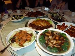 The Banquet (Deydodoe) Tags: uk sea england food fish liverpool cuisine restaurant bass chinesefood tofu chinese broccoli goose pork eat banquet 500views oriental abalone cantonese gastronomy 1000views taipan chinesebanquet cantonesefood