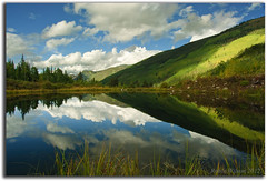 High Country Reflections (Robin-Wilson) Tags: reflection grass clouds pond bravo colorado aspen pinetrees highcountry favoritespot coth castlecreek pitkincounty scatteredlight stormsbrewing coth5