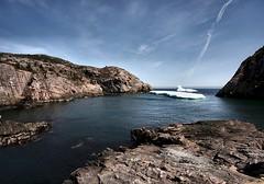 Icebergs (Karen_Chappell) Tags: ocean blue seascape canada ice newfoundland landscape spring scenery rocks scenic rocky stjohns wideangle atlantic iceberg nfld eastcoast quidividi