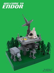 Welcome To Endor (2 Much Caffeine) Tags: starwars lego atat returnofthejedi landingpad moc endor atst imperialshuttle microscale shieldgenerator