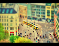 Berlin little world # Explore # (Marcus Klepper - Berliner1017) Tags: world street city people color berlin toy town little small shift tram explore tilt hdr