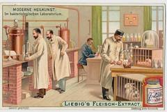 Liebig Bakteriologischen laboratorium (janwillemsen) Tags: laboratory rabbits liebig chromelithograph