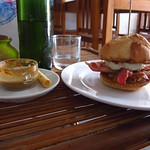 "Egg Burger! <a style=""margin-left:10px; font-size:0.8em;"" href=""http://www.flickr.com/photos/14315427@N00/7142325893/"" target=""_blank"">@flickr</a>"