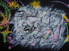 SMOOTH VELVET LADYBOY (Assi-one) Tags: street art calle graf tetas ladyboy shemale yuya pochoir paradas culos schablonen vergas estencil pedes maricas assione culatono