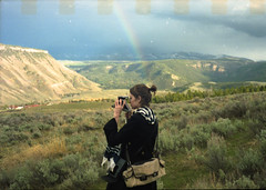rainbowmaking (scott w. h. young) Tags: sky sun love film 35mm rainbow yellowstonenationalpark
