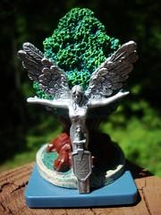 Angelstar Shrine (ridureyu1) Tags: tree angel toy toys actionfigure miniature location rpg roleplayinggame dreamscape valor wizardsofthecoast wotc toyphotography angelstar dreamblade sonycybershotdscw220 angelstarshrine