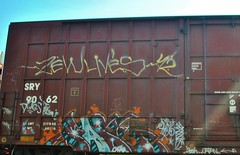 Sast (nunya...nunyabusiness) Tags: art train graffiti paint graf tracks spraypaint boxcar freight sry sast