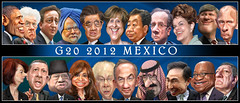 G20 2012 heads of government - Caricatures