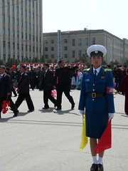 Traffic Girl at the Parade (KoryoTours) Tags: birthday travel tourism military group police korea parade celebration april northkorea 2012 pyongyang dprk 100year koryotours trafficgirl koryogroup