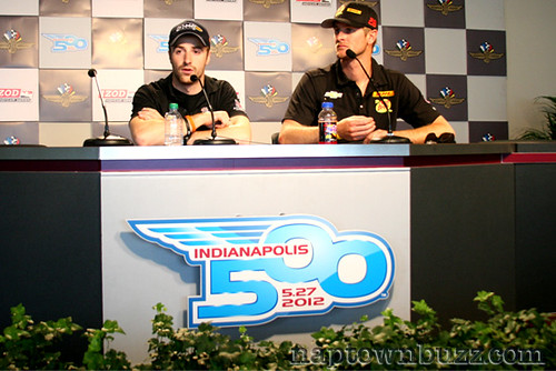 """Indy 500 2012 Practice 5: James Hinchcliffe & RHR • <a style=""""font-size:0.8em;"""" href=""""http://www.flickr.com/photos/78612590@N05/7213275228/""""  on Flickr</a>"""