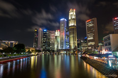 Welcome to Singapore (Justin Koning) Tags: longexposure skyline night clouds reflections singapore asia 2012 lenses sigma1020mmf35exdchsm