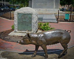 Crossroads Pig (DGMiller777) Tags: urban sculpture usa robert monument bronze square pig nc asheville north trail pack lee e carolina crossroads sow vance