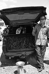 The Gurken Cartel (Le*Gluon) Tags: street bw car market trunk tajikistan dushanbe bazaar tamron centralasia merchant seller gurken d90 tadjikistan 18270 douchanb