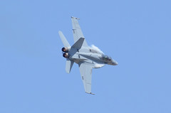 F-18 Super Hornet (linda m bell) Tags: california demo march fighter aircraft military jet super airshow socal hornet f18 vapor arb 2012 airfest airreservebase