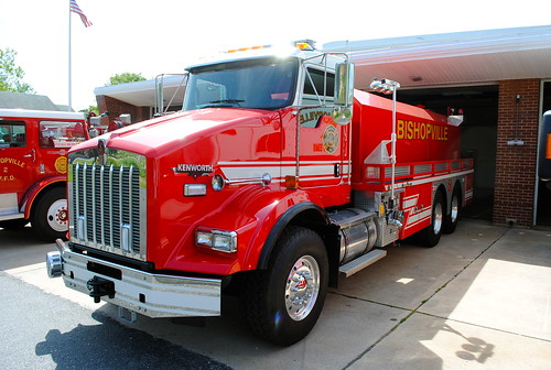red firetruck fireengine bishopvillemaryland station900 bishopvillevolunteerfiredepartment tanker903