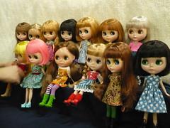 RBL girls at the Blythe meet