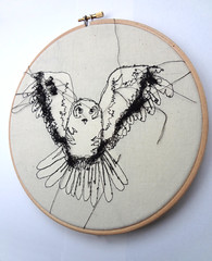 "Embroidery Owl 8"" Hoop (RosieG Embroidery) Tags: bird nature illustration woodland owl barnowl barnowls fathersdaypresent embroiderydesign owldrawing embroideryhoopart owlsketch owldecor britishowls textilesdesign woodlanddecor owltextiles"