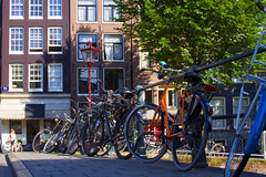 Amsterdam (Antonio Vaccarini (vanto5)) Tags: street trip travel windows panorama house holland home colors amsterdam bike architecture canon landscape europe cityscape streetlamp geometry nederland clear explore olanda canonef24105mmf4lisusm canoneos7d antoniovaccarini