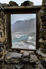 View from Khaphocho Fort - Skardu (M.Omair) Tags: road city autumn winter brown white snow tree water beautiful yellow fog clouds river sand nikon desert fort top peak valley omair leafs indus vr 18105 skardu baltistan shigar virgomair d7000 imomair kharpachu gilgitl kharphocho